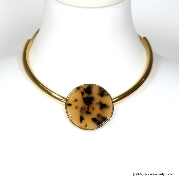 necklace 0119626-06 tortoise shell resin-metal