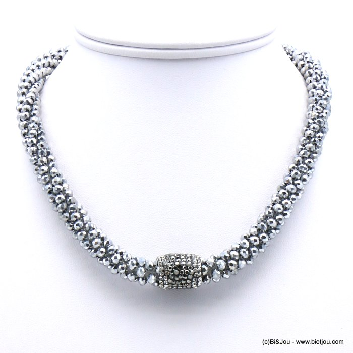 necklace 0119629-13 crystal rhinestone tube magnetic clasp