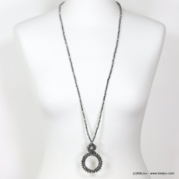 long necklace 0119630-13 sautoir crystal ring