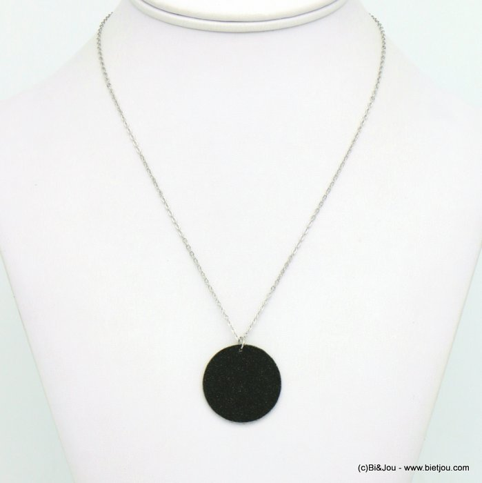 necklace 0119665-13 glitter metal