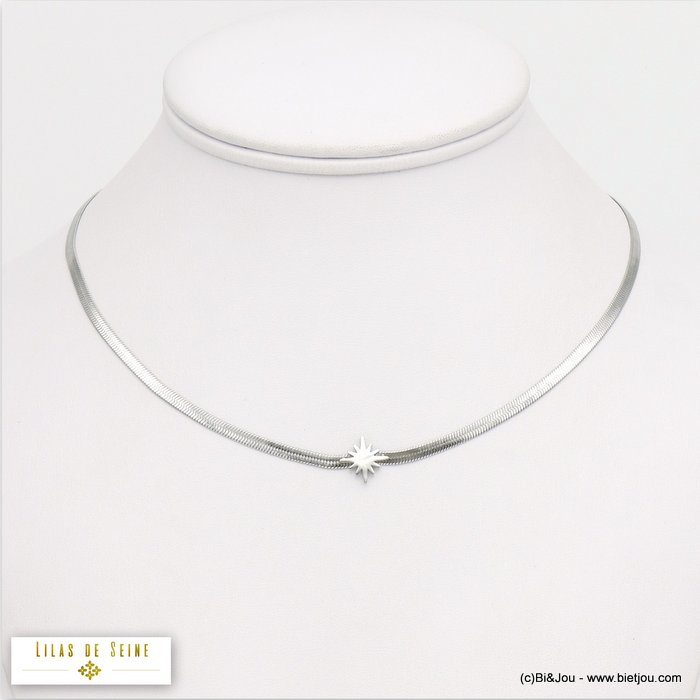 necklace 0120050-13 star stainless steel