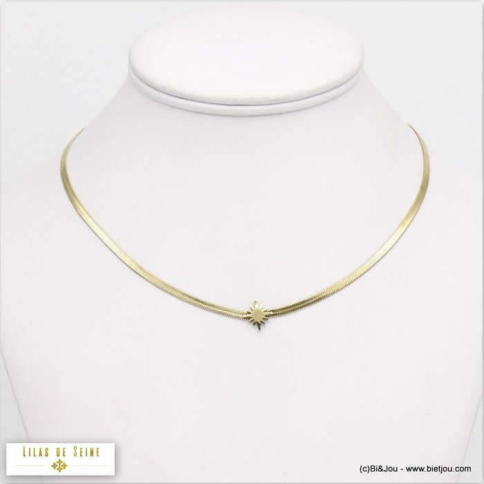 necklace 0120050-14 star stainless steel