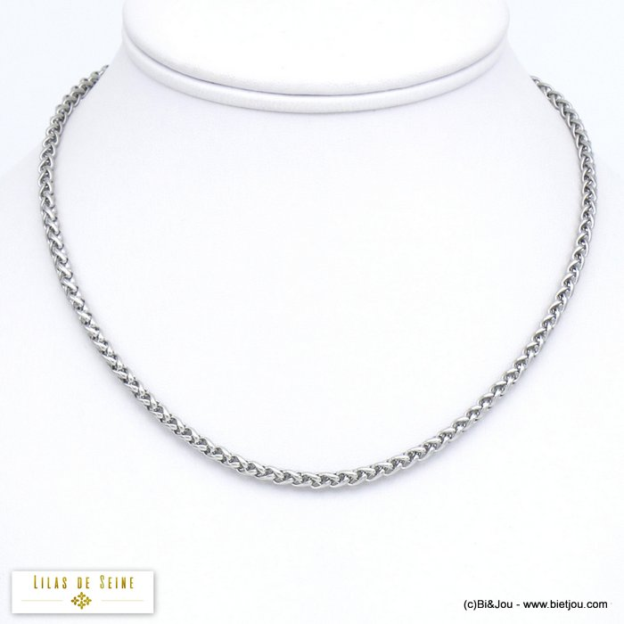 necklace 0120052-13 stainless steel palm link chain woman