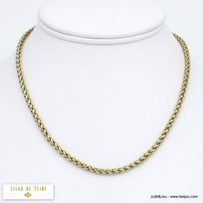 necklace 0120052-14 stainless steel palm link chain woman