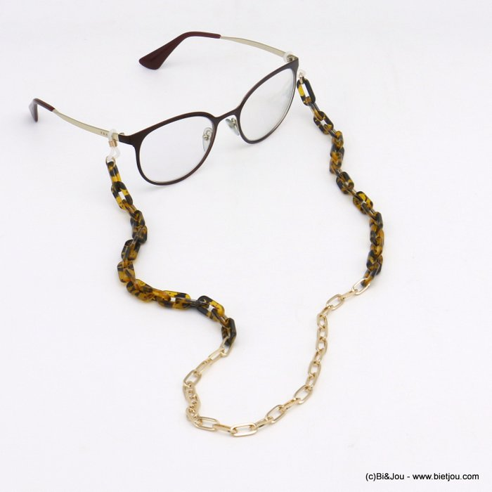 Glasses Chain 0120111-02 tortoise shell resin-metal
