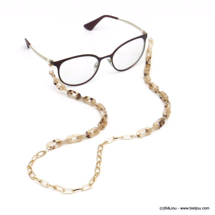 Glasses Chain 0120111-06 tortoise shell resin-metal