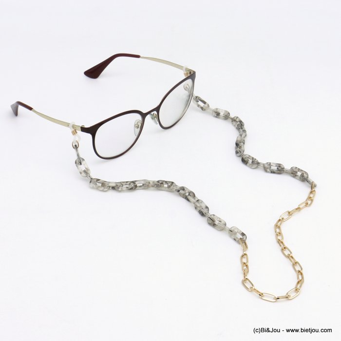 Glasses Chain 0120111-25 tortoise shell resin-metal