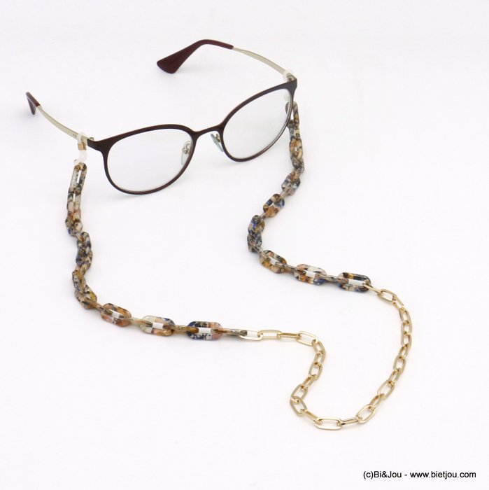 Glasses Chain 0120111-99 tortoise shell resin-metal