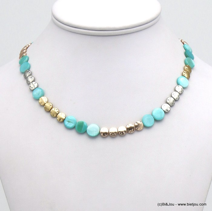 necklace 0120124-17 shell-metal