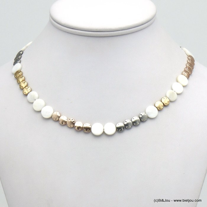 necklace 0120124-19 shell-metal