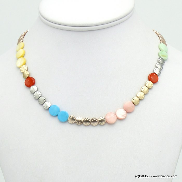 necklace 0120124-99 shell-metal