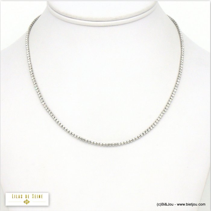 necklace 0120569-13 stainless steel strass
