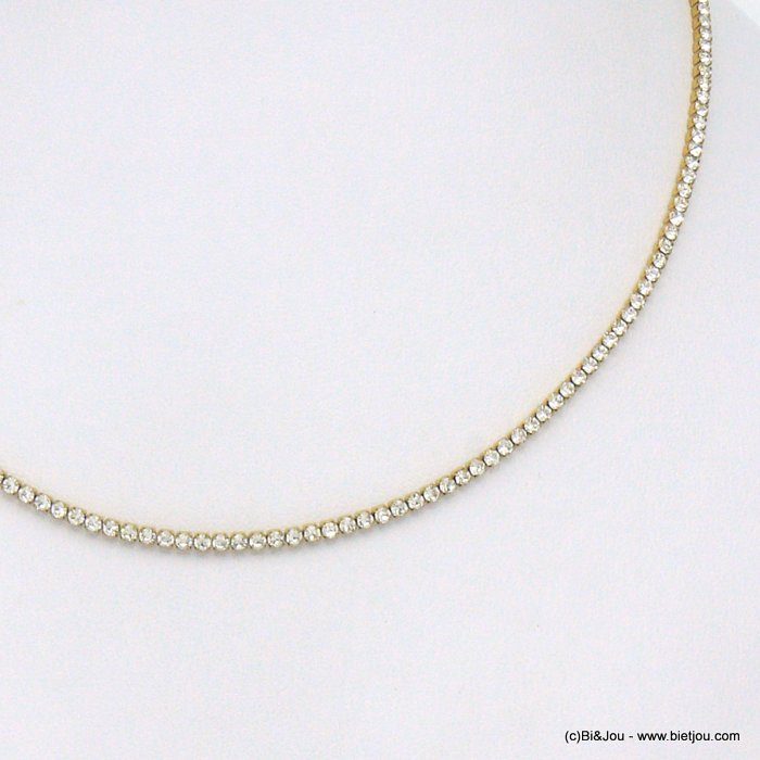 necklace 0120569-14 stainless steel strass