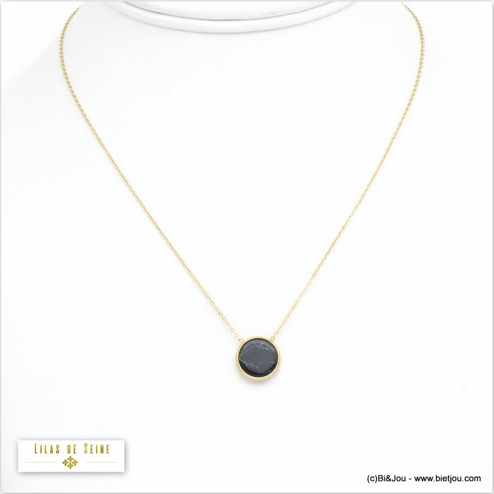 necklace 0120595-01 stainless steel stone woman