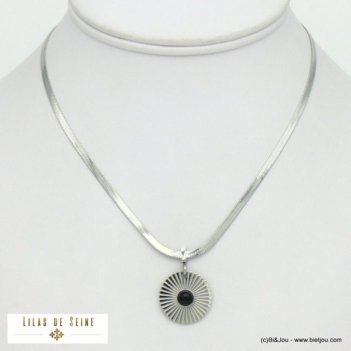 necklace 0121009-13 sun Herringbone chain stainless steel woman