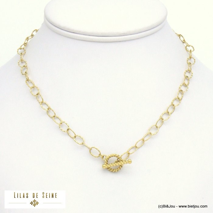 necklace 0121016-14 toogle clasp stainless steel woman