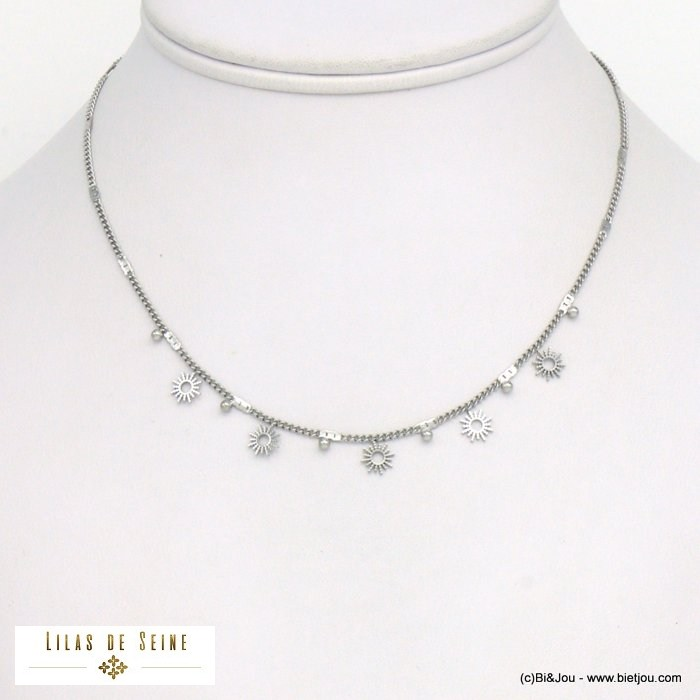necklace 0121036-13 sun stainless steel woman