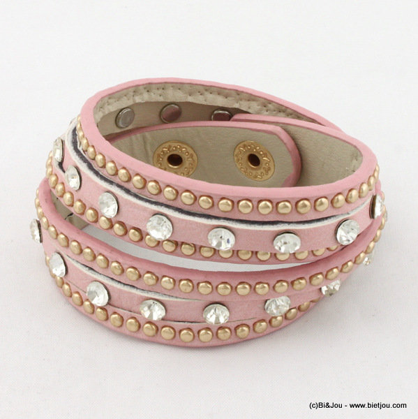 bracelet 0215003-18 15x370mm synthetic-metal-strass