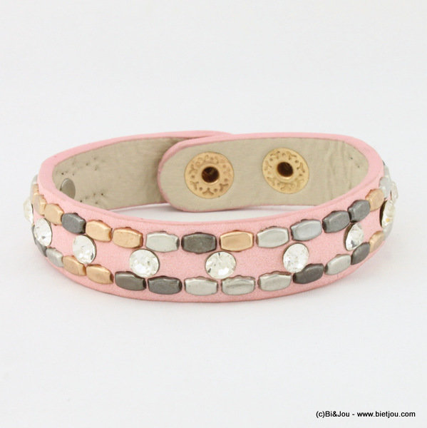 bracelet 0215004-18 15x200mm synthetic-metal-strass