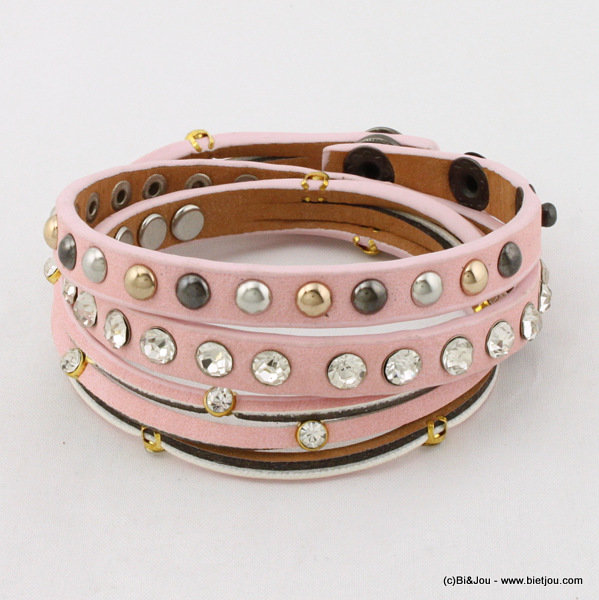 bracelet 0215007-18 8x580mm synthetic-metal-strass