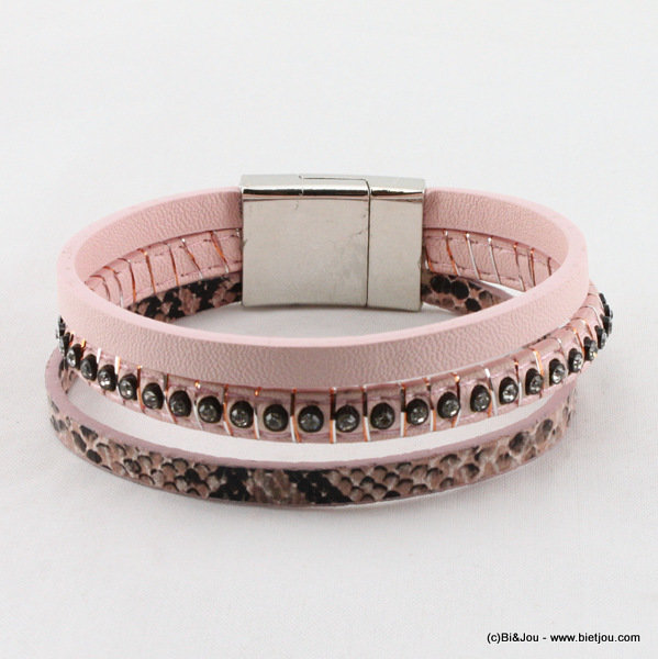 bracelet 0215051-18 magnet close 15mm synthetic-strass-polyester