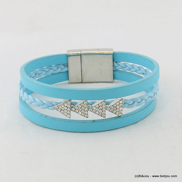 bracelet 0217014-08 magnetic clasp 15x190mm synthetic-metal-strass