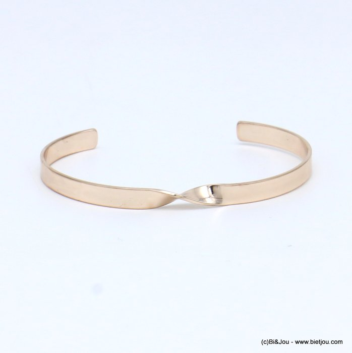 bracelet 0217539-23 twisted open bangle metal 5x60mm