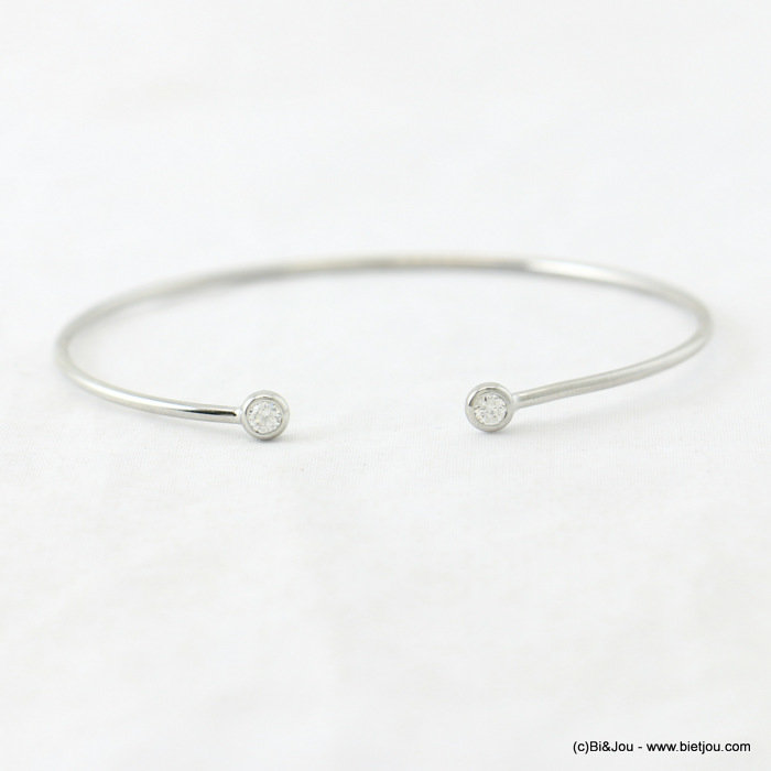 bracelet 0217940-24 open thin bangle minimalist coloured rhinestone 55mm metal