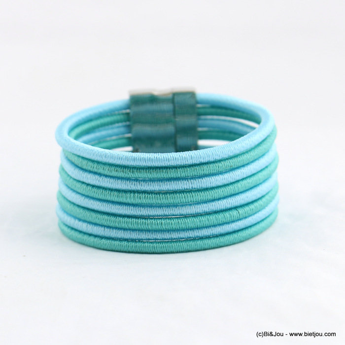 bracelet 0218050-17 magnetic 33x190mm polyester cord-metal