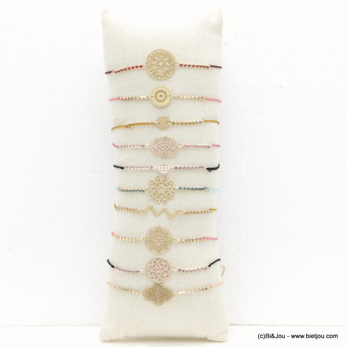 bracelet 0218506-99 10pcs filigree rhinestone + pillow display