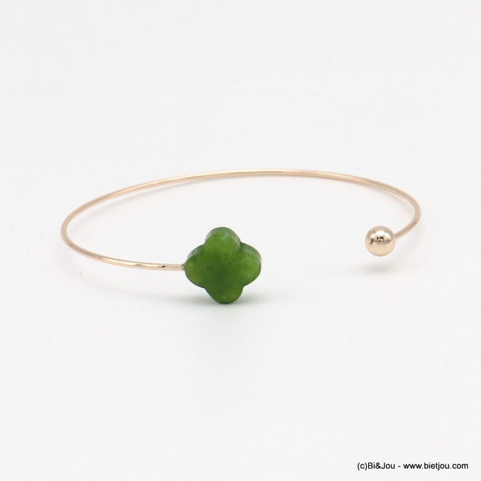 bracelet 0218569-07 clover open bangle metal-glass