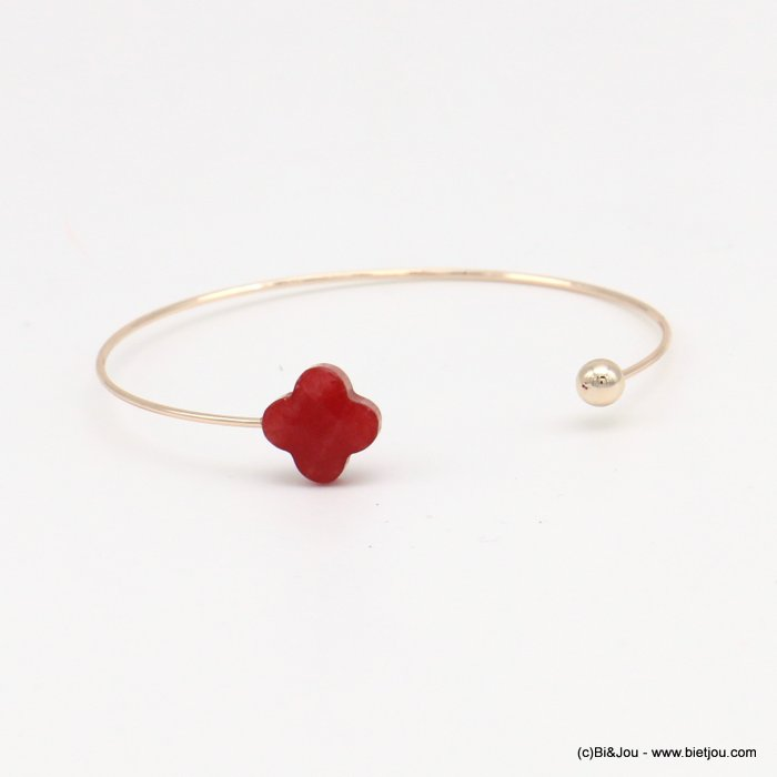 bracelet 0218569-12 clover open bangle metal-glass