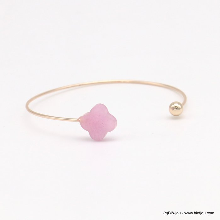 bracelet 0218569-18 clover open bangle metal-glass