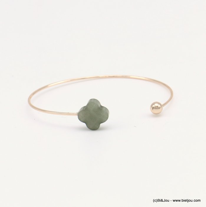 bracelet 0218569-25 clover open bangle metal-glass