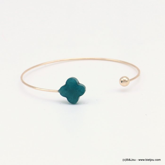 bracelet 0218569-29 clover open bangle metal-glass