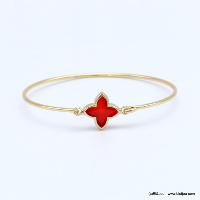 bracelet 0218571-12 openable bangle clover metal-crystal 14x60mm