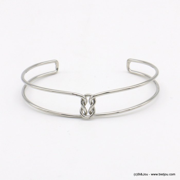 bracelet 0219038-13 knot double metal open bangle 15x60mm