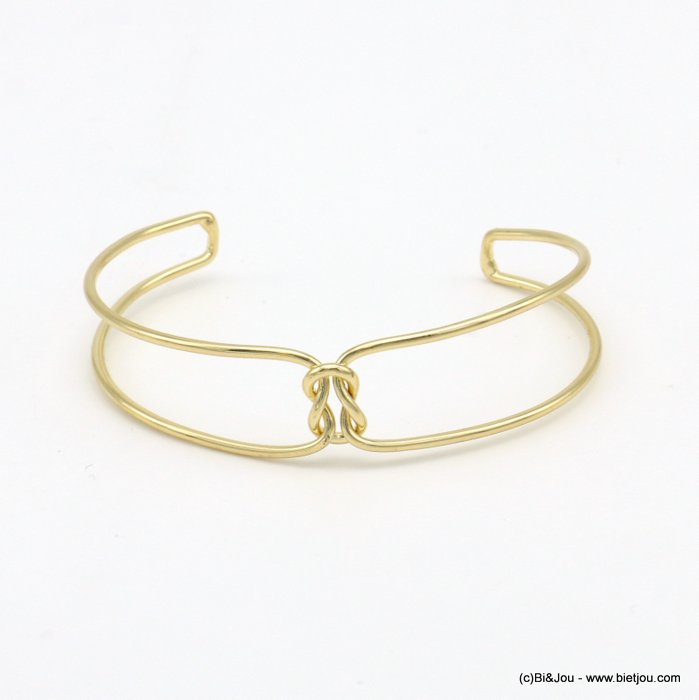 bracelet 0219038-14 knot double metal open bangle 15x60mm