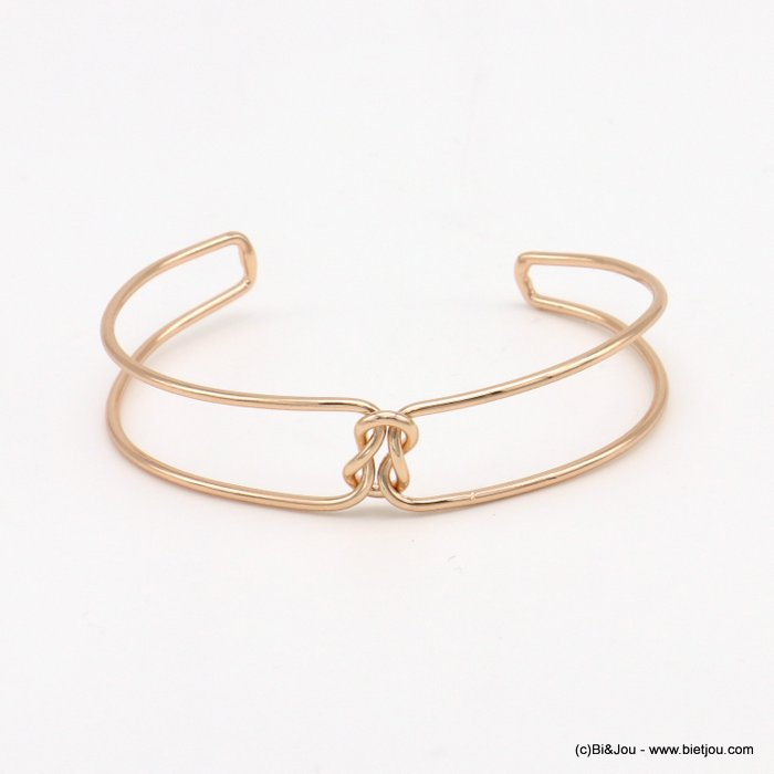 bracelet 0219038-23 knot double metal open bangle 15x60mm