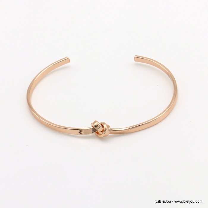 bracelet 0219039-23 knot metal open bangle 3x60mm