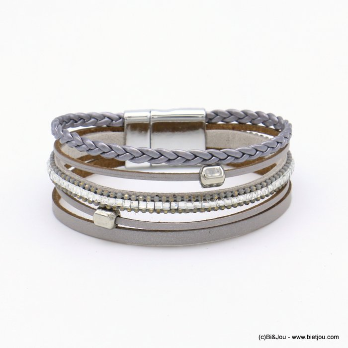 bracelet 0219102-25 magnetic 20x190mm synthetic-metal-glass