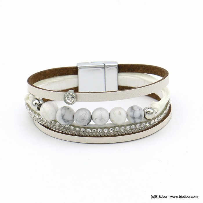 bracelet 0219103-19 magnetic 20x190mm synthetic-metal-reconstituted stone-strass