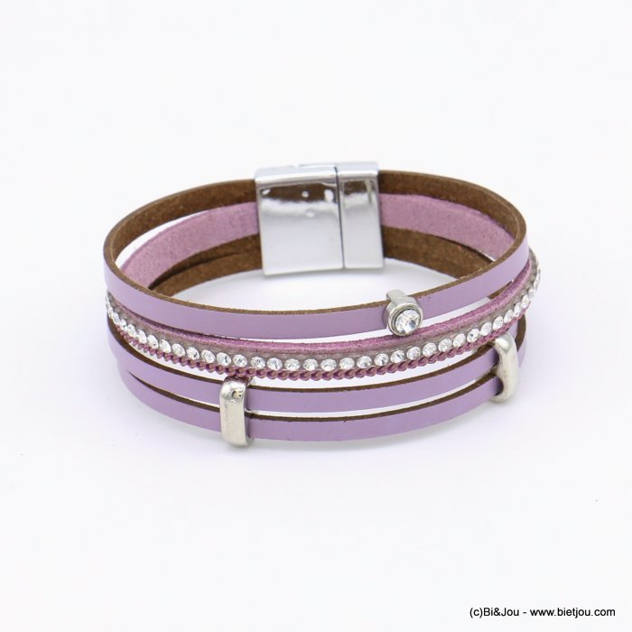 bracelet 0219106-04 magnetic 20x190mm synthetic-metal-strass