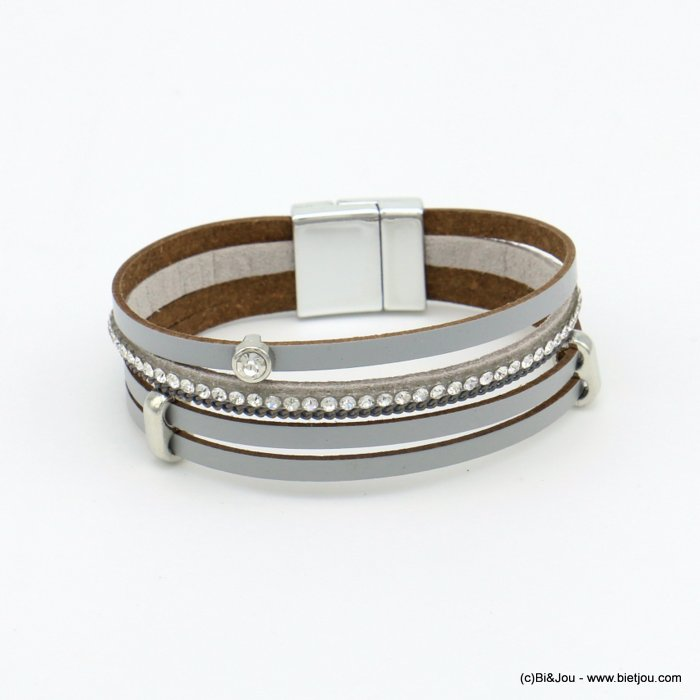 bracelet 0219106-25 magnetic 20x190mm synthetic-metal-strass