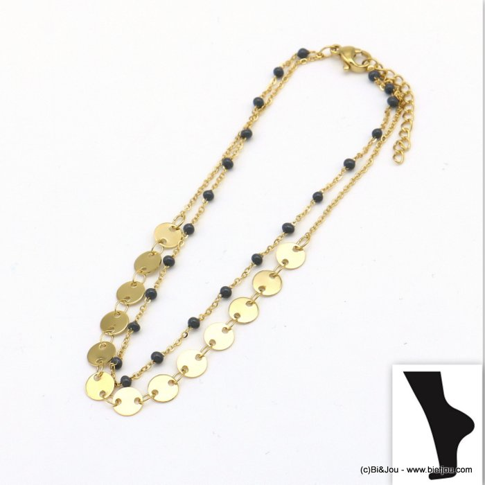 anklet 0219108-01 stainless steel-resin
