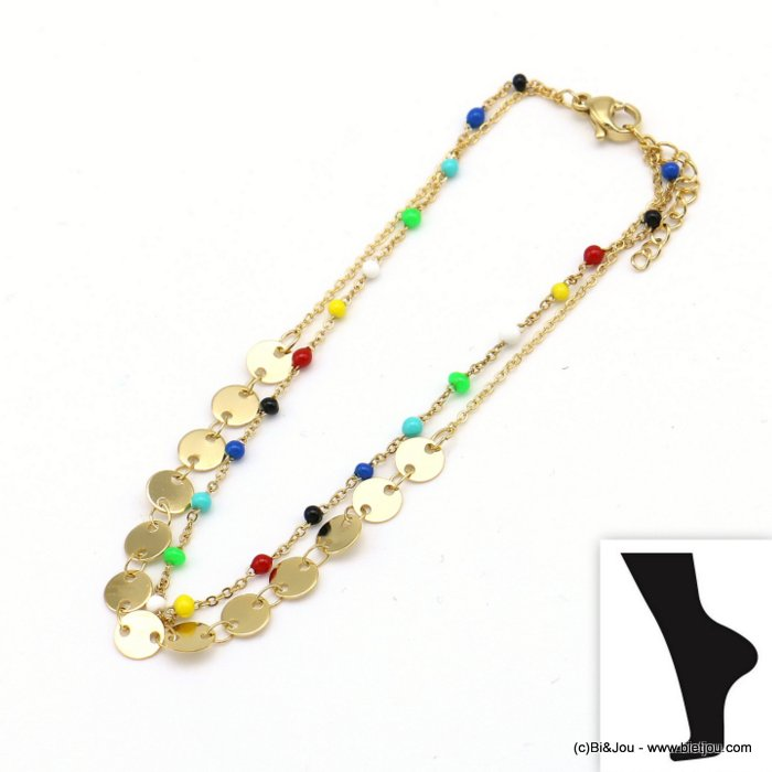 anklet 0219108-99 stainless steel-resin