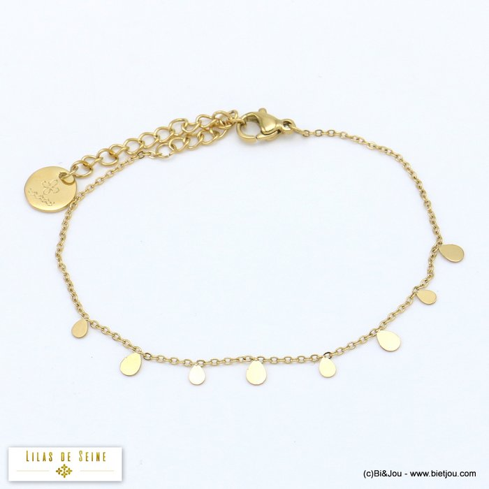 bracelet 0219504-14 little drops stainless steel woman slave link chain