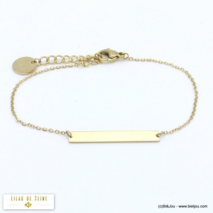 bracelet 0219505-14 bar stainless steel woman slave link chain