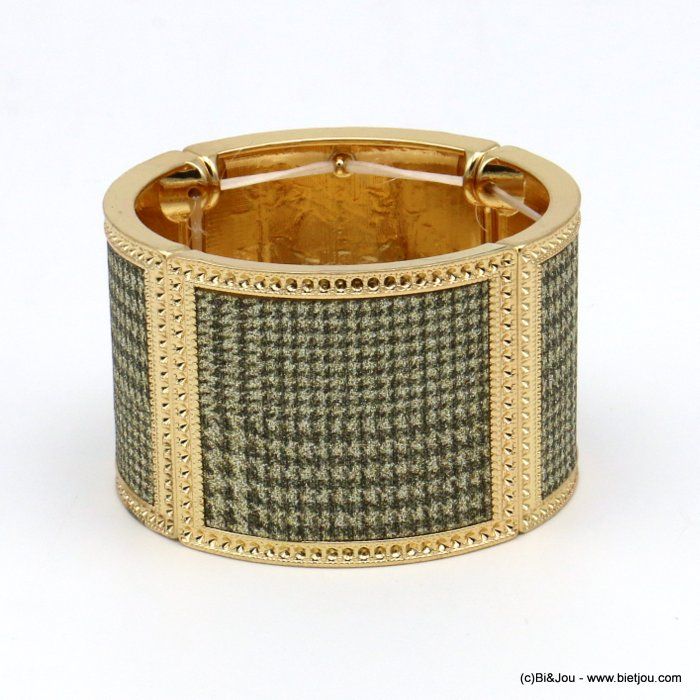 bracelet 0219521-14 elastic houndstooth glitter metal-synthetic 42x65mm