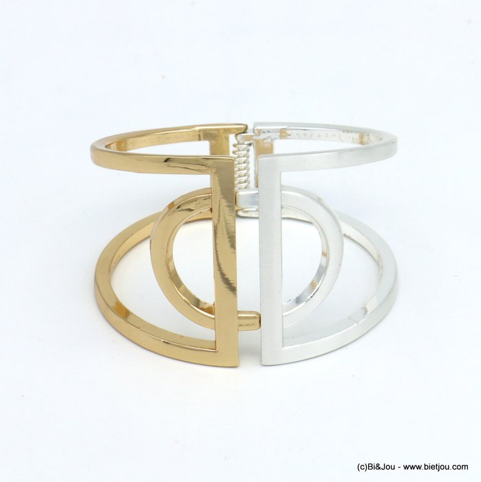 bracelet 0219552-14 openable two-coloured metal 47x67mm